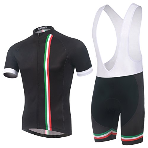 Spoz Men Short Sleeve Cycling Gel Pad Bid Jersey Set XL