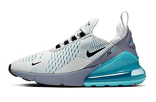 Nike Air Max 270, Chaussures d'Athlétisme garçon, Multicolore (Pure Platinum/Black/Wolf Grey 019), 35.5 EU