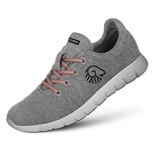 GIESSWEIN Herren Woll-Sneaker Merino Runners, Grau, 43 EU