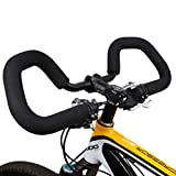 hujio Aoligei Mariposa Manillar de Bicicleta, Manillar de la Bicicleta de aleación de Aluminio de Descanso con Cojín de Esponja, para Bicicleta de Carretera de Triatlón25.4mm