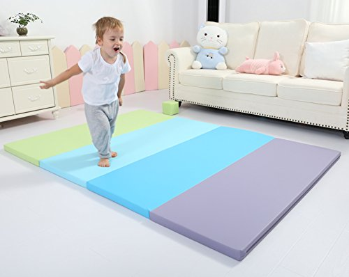 Buy Bargain LIUZEIMIN Extra thick baby crawling mat,Double sided Foldable Untasteless Play mats Port...
