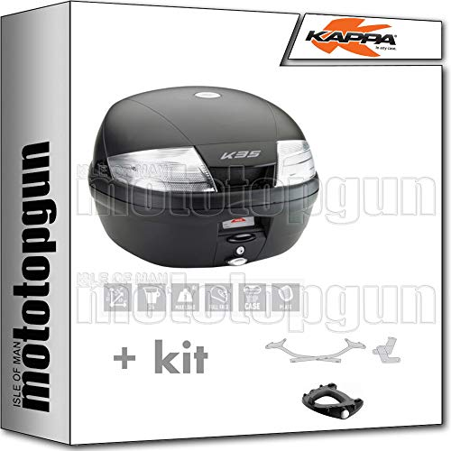 kappa maleta k35nt 35 lt + portaequipaje monolock compatible con yamaha tracer 700 2020 20