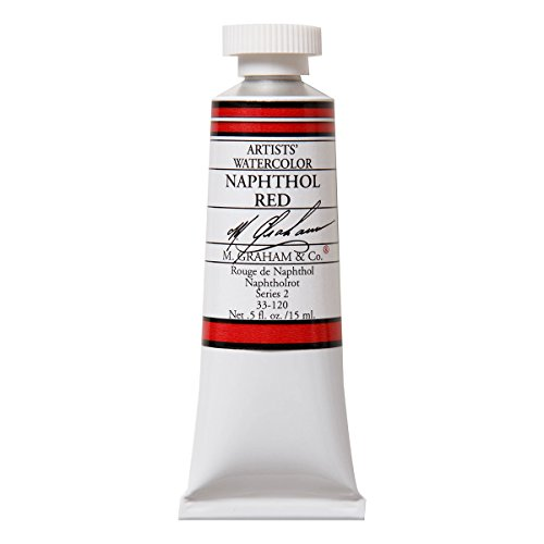 M. Graham 1/2-Ounce Tube Watercolor Paint, Naphthol Red (33-120)
