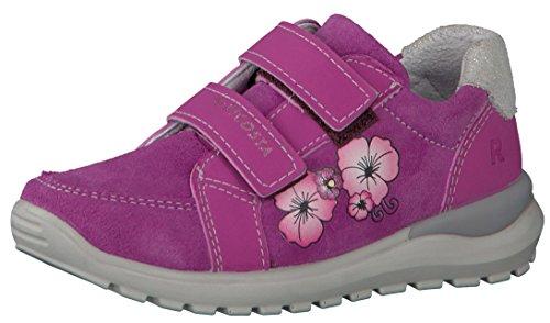 RICOSTA 6921500 Bobby M Jungen Halbschuh, Sneaker, Klettverschluss, Blinklicht, Wechselfußbett, Flexible PU Sohle Pink (Candy), EU 29