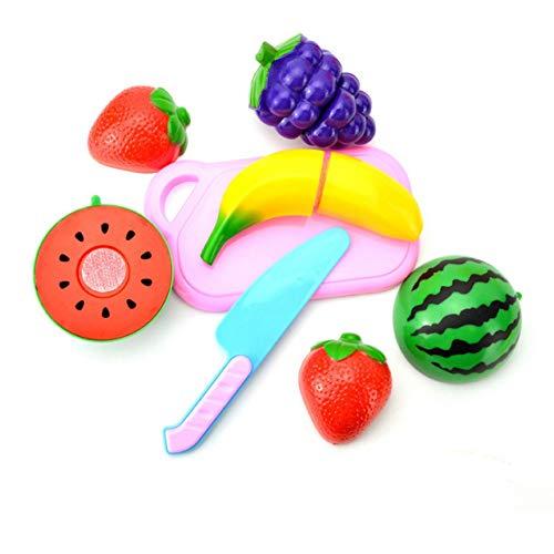 ShenyKan A0601 Juego de Corte de Frutas Juego de Roles Pretender Juguete de Comida de Vegetales y Frutas Reutilizables