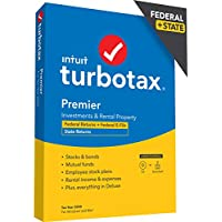 TurboTax Premier 2020 Desktop Tax Software, Federal and State Returns + Federal E-file (State E-file Additional)