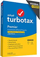 TurboTax Premier 2020 Desktop Tax Software, Federal and State Returns + Federal E-file [Amazon Exclusive] [PC/Mac Disc]
