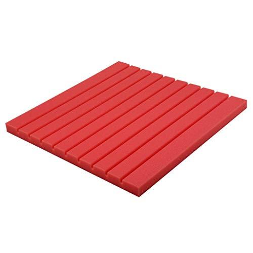 CHANG-dq Kindergarten-dekorative Materialien, schallabsorbierender Schwamm-Farbstreifen-Wand-Haushalts-KTV-Wohnzimmer-Klavier-Raum-Akustikplatten Schlafzimmer schalldichte Baumwolle ( Color : Red )