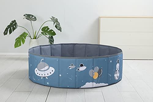 bamitus - Piscina de Bolas Plegables para Bebe y Niños para Jugar Arenas y Juguetes, 120 cm Diámetro, Diseño Impreso (Astronauta, 120x30 cm)