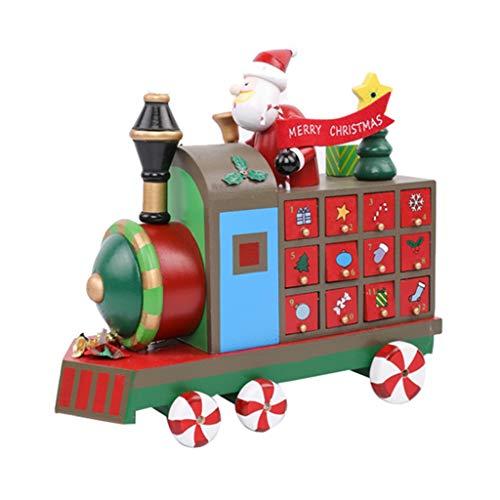 Adventskalenders Kerstkalender Home Houten Creatieve Trein Woonkamer Raamdecoratie Kalender Aftelkalender Snoep Opbergdoos Gift