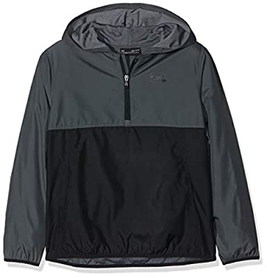 Under Armour Packable 1/2 Zip Jacket, Pitch Gray//Black, Youth Large