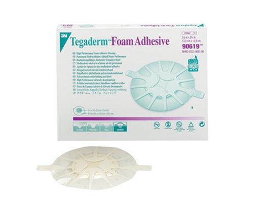 3M Tegaderm High Performance Foam Adhesive Dressing 90619,Heel Design (Pack of 20)