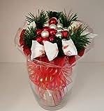 Weihnachtsstrauß mit Pralinen, Strauß, künstlich Winter Handstrauß Blumenstrauß, Winterstrauß, Geschenk zum Advent, Weihnachten, Nikolaus