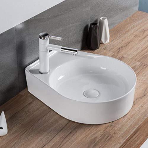 QuRong Schip zinken in Europese stijl ultradunne keramiek badkamer make-uptafel geschikt voor badkamer toilet voor thuis Hotel