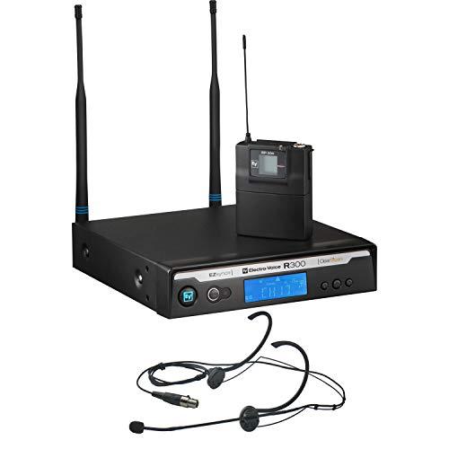 Electro-Voice R300-E/C Sistema Beltpack con bodypack Headset HM3 Banda C (516 MHz - 532 MHz)