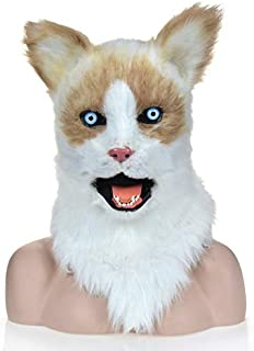 Masks Simulation Brute Carnival Yellow Ragdoll Masks OEM Manufacture Factory Furry Animal Masks ( Color : Yellow )