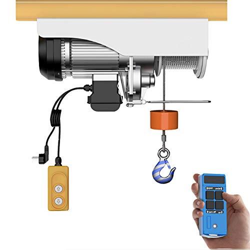 WUK Mini polipasto eléctrico con Control Remoto inalámbrico, 12 m Polipasto eléctrico...