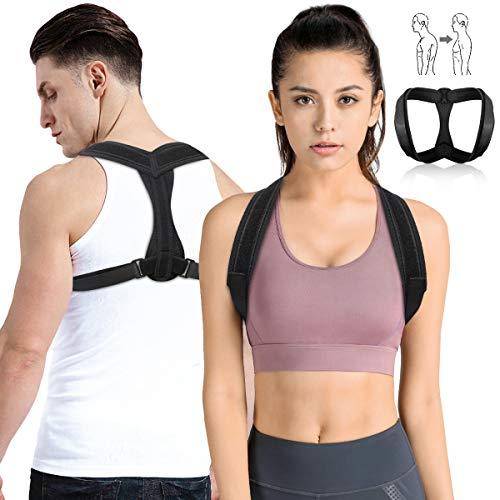 Outerdo - Correttore posturale, supporto per la postura della colonna vertebrale, correttore della postura della schiena