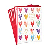 Hallmark Pack of Valentines Day Cards, Happy Heart Day (6 Valentine's Day Cards with Envelopes)