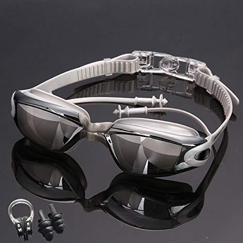 GUOGUODA Gafas de natación Gafas Buceo de Protección para Mujeres Anti-vaho HD y Anti-UV Sin Fugas Gafas Natacion Apto para Todo Tipo de Deportes Acuáticos Unisex Adulto