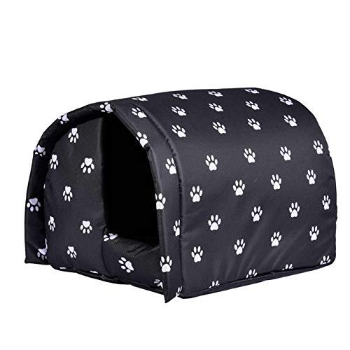 Katzenhaus Für Draußen Winterfest, Hundehaus, Outdoor Pet House Wasserdichtes Katzenhöhle Hundehöhle Faltbar Katzen Tierheim Hundehütte Für Hund Katze Hündchen Kaninchen