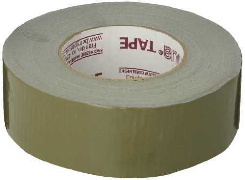 Nashua 2280 Polyethylene Coated Cloth Multipurpose Duct Tape, 55m Length, 48mm Width, Olive Drab