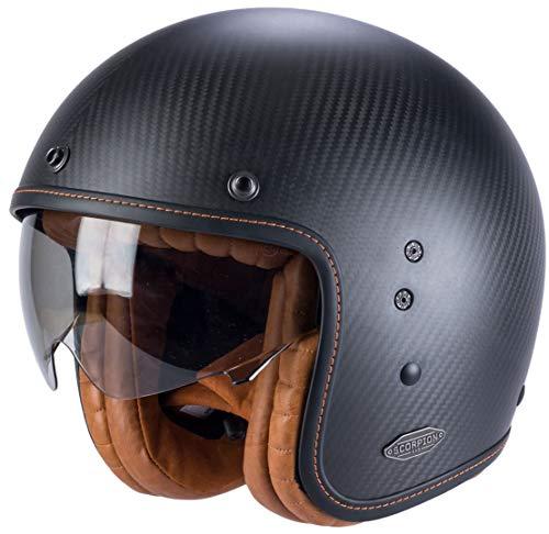 SCORPION Casque moto BELFAST CARBON Noir Mat, Noir, L 81-261-10-05
