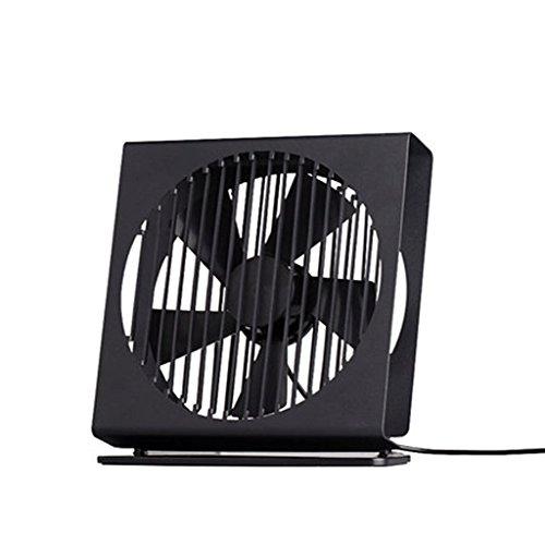 YP-Ventilatore da tavolo Mini ventilatore Ventilatore USB muto Scrivania Dormitorio per gli studenti Lettino portatile Ventilatore grande (Colore : Nero)