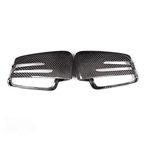 SIWJ Cubierta Espejo Puerta 2 Uds Tapa De Espejo Retrovisor Fit For Mercedes Benz A W176 B W246 C W204 E W212 Cla W117 Gla X156 Glk X204 CLS Clase W218 (Color : Black)