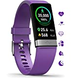MorePro Fitness Activity Tracker Heart Rate Blood Pressure Monitor, IP68 Wateproof Smart Watch with Blood Oxygen HRV Health Sleep Tracking, Smartwatch Calorie Counter Pedometer for Women Men Mom