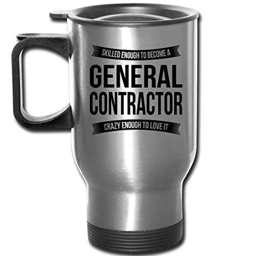 General Contractor Travel Mug Gifts - Funny Appreciation Thank You For Men Women New Job 14 oz Mug Silver