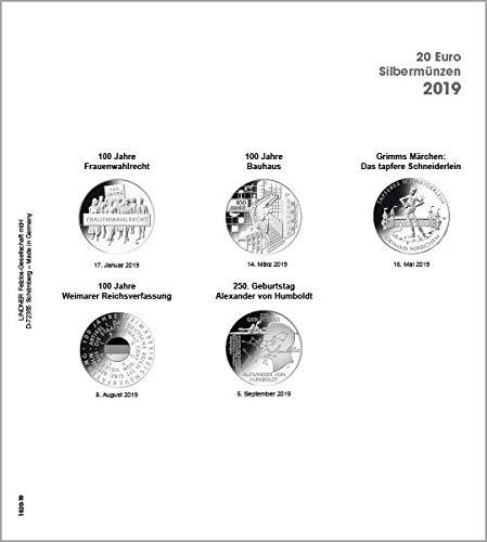 Lindner 1520-19 Vordruckblatt Karat 20 Euro-Silbermünzen BR Deutschland 2019