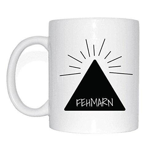 JOllify FEHMARN Kaffeetasse Tasse Becher Mug M5025 - Farbe: weiss - Design 11: Hipper Hipster