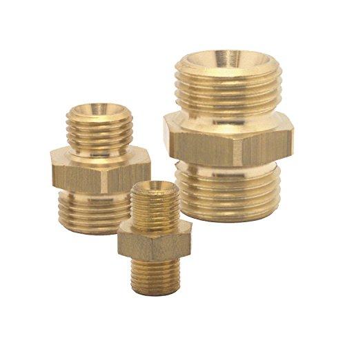 Elmag 42382 Druckluft-Doppelnippel | Außengewinde 1/8-1/4 Zoll | Messing