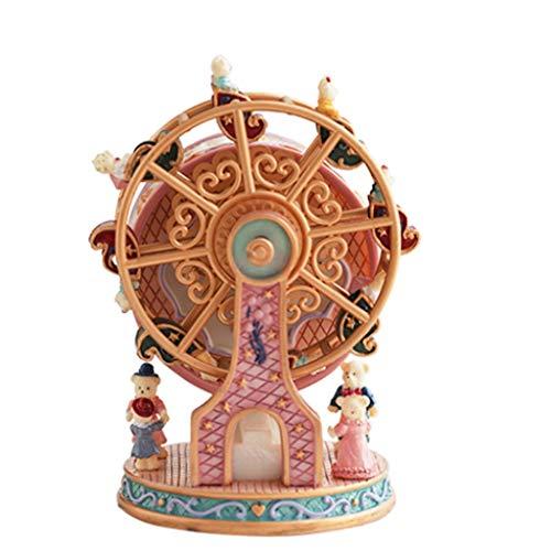 Caja de música regalo Caja de música de la rueda de la fortuna, caja de musica de resina, caja de música linda, cajas de música decorativa, regalo de cumpleaños del día de San Valentín de Navidad Caja