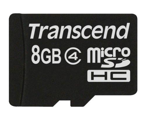 Transcend TS8GUSDC4 - Tarjeta de Memoria Flash Micro SDHC de 8 GB