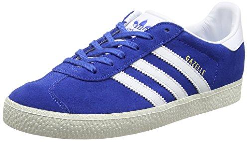 adidas Gazelle, Zapatillas Unisex Adulto, Azul (Blue/FT White/Gold MT), 38 EU