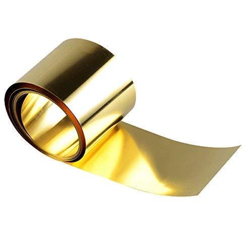 Messing Metall Dünnblech Folienplatte 0,02 x 100 x 1000 mm