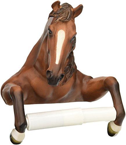 Design Toscano Holder-Steady Stallion Horse Rustic Toilet Paper Roll - Bathroom Wall Decor, Multicolor