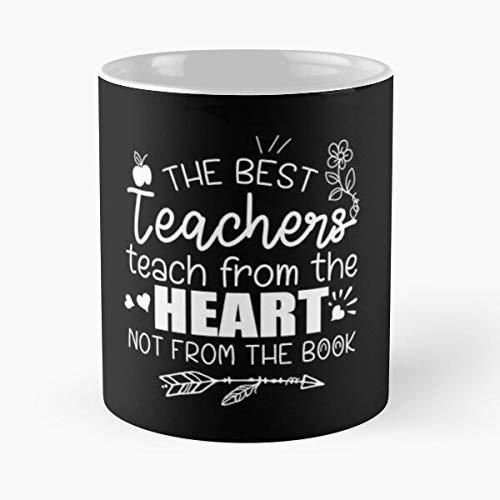 N\A Feliz Primer día de la Escuela Virtual, el Mejor Maestro enseña Desde el corazón, no el Libro, Regalos para niñas o niños, Taza clásica, 11 oz.