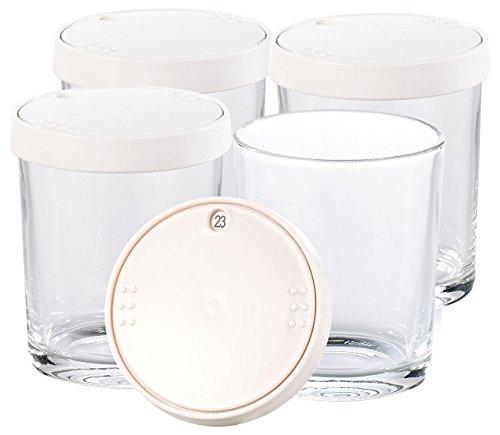 PEARL Zubehör zu Joghurt-Zubereiter: Ersatz-Gläser für PEARL Joghurt Maker, 4er-Set je 150 ml (Joghurt-Machine)