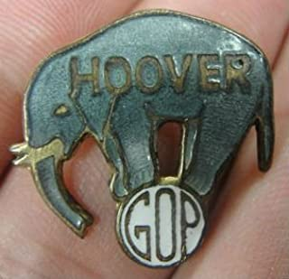 1928 Vintage GOP Elephant political pin - Herbert Hoover