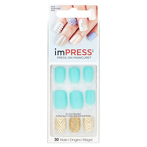 Kiss Impress Bells & Whistles Press-On Manicure Nails,30 pieces