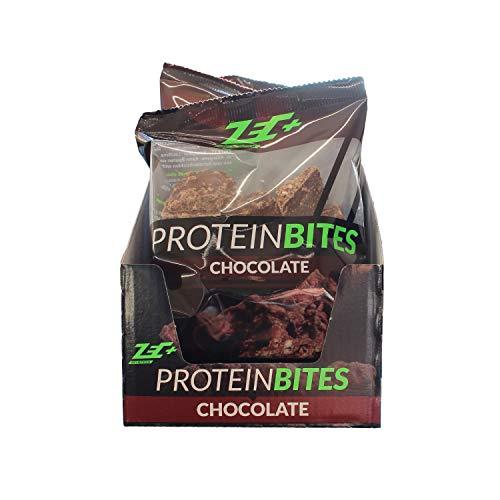 ZEC+ Protein Bites, snack fitness con 30% di proteina naturale del siero del latte e proteine di soia, ottimo fornitore di proteine per un gusto gustoso di cioccolato, confezione da 10 pezzi