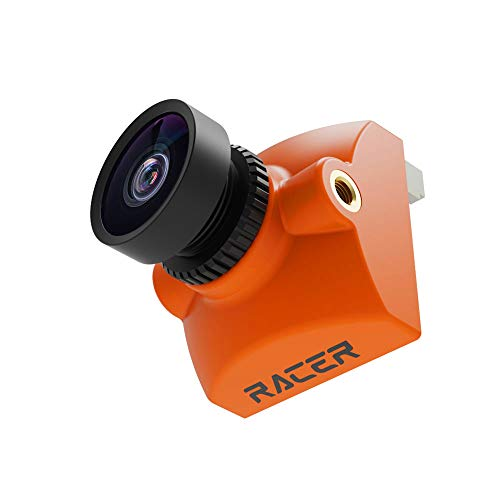 RunCam Racer 4 Micro-FPV-Kamera, 1000TVL 720P60FPS Analoge und Digitale Drohnenkamera mit 1,8-mm-Objektiv FOV160 ° MIPI Anschluss für DJI FPV Air Unit, Orange