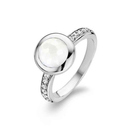 Ring zilver 925 Ti Sento Milano steen wit zirkonia 12011Wh/56