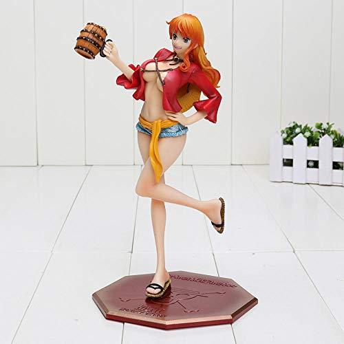 brandless Kostenlose 22,5 japanische Anime Einteilige P.O.P. Nami in Ruffy-Outfit mit Fässern PVC-Version Figur neu in Box