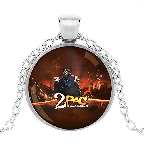 2Pac Licht Anhänger Berühren hängende Halskette Refreshing Halskette Unisex (Color : A05, Size : OneSize)
