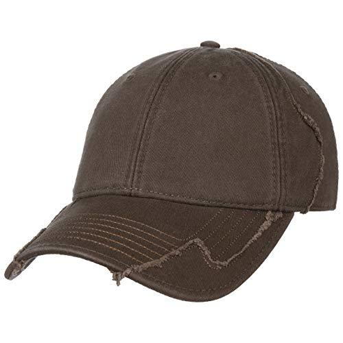 Lipodo Basecap Damen/Herren - Cap 100% Baumwolle - Baseballcap One Size (55-60 cm) - Braun - Used Look