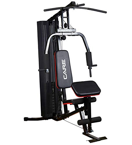 CARE FITNESS - Presse de Musculation Gym 50 - Station de Développement Musculaire Multifonction - Travail des Muscles Pectoraux, Dorsaux, Bras, Cuisses. Station de Musculation Multifonction